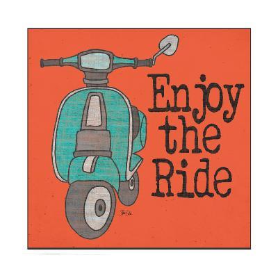 Vespa - Enjoy the Ride-Shanni Welch-Art Print