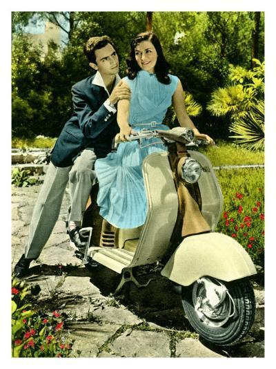 Vespa Piaggio Romance--Giclee Print