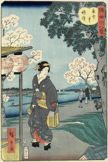 Vesper Bells at Chomei-Ji Temple, November 1861--Giclee Print