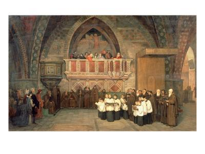 Vespers in the Saint Francis Church in Assisi, 1871-Mikhail Petrovich Botkin-Giclee Print
