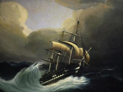 Vessel with Two Decks in Storm, 1858, Oil on Canvas by Cheri Dubreuil--Giclee Print