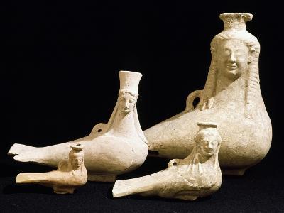Vessels in the Shape of Female Head--Giclee Print