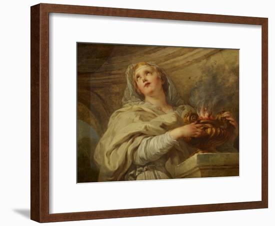 Vestal Virgin, C.1730-Francois Lemoyne-Framed Giclee Print
