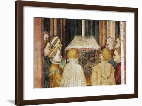 Vestals around Altar, Detail from Fresco Cycle Stories of Romulus and Remus-Gentile da Fabriano-Framed Giclee Print