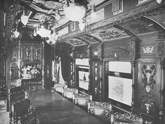 'Vestibule Dining Car on the Rio-Sao Paulo Night Express of the Central Railway of Brazil', 1914-Unknown-Photographic Print