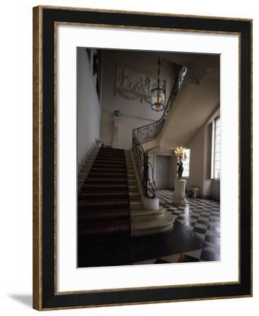 Vestibule with Marble Floors and Neoclassical Stucco by Clodion--Framed Giclee Print