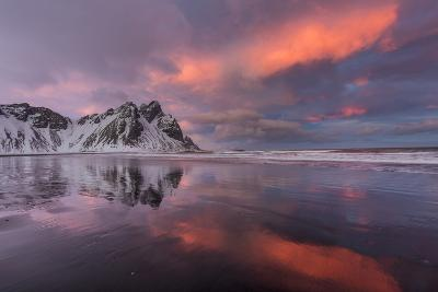 Vestrahorn Mountain in Winter Near Hofn, Iceland-Chuck Haney-Photographic Print