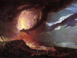 Vesuvius in Eruption, 1776 by Joseph Wright of Derby