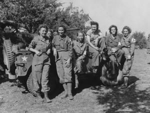 Veteran U.S. Army Nurses after Arriving in France on August 12, 1944