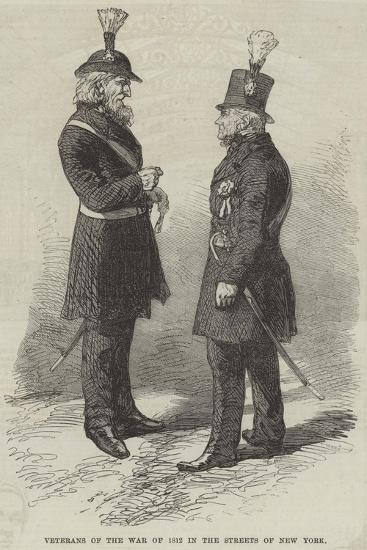 Veterans of the War of 1812 in the Streets of New York--Giclee Print