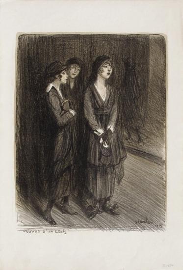Veuves d'un Louis-Th?ophile Alexandre Steinlen-Collectable Print