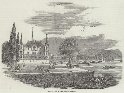 Vevay and the Lake Leman--Giclee Print