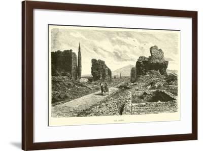 Via Appia--Framed Giclee Print