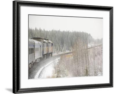 Via Rail Snow Train Between Edmonton & Jasper, Alberta, Canada-Cindy Miller Hopkins-Framed Photographic Print