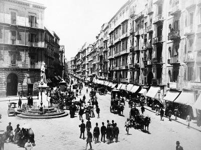 Via Roma, Naples, About 1880--Photographic Print