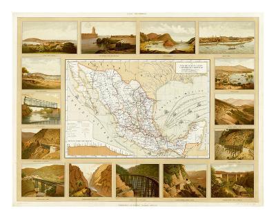 Vias de Comunicacion y Movimiento Maritimo, c.1885-Antonio Garcia Cubas-Art Print