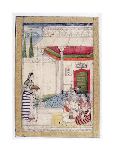 Vibhasa Ragini, Ragamala Album, School of Rajasthan, 19th Century--Giclee Print
