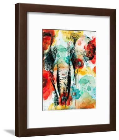 Vibrant Elephant-Patricia Pinto-Framed Art Print