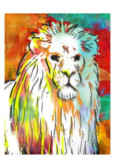 Vibrant Lion-OnRei-Art Print