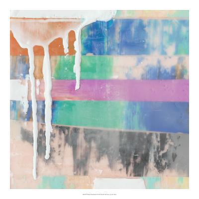 Vibrant Paint Drip I-Julie Silver-Giclee Print