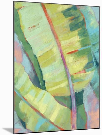 Vibrant Palm Leaves I-Jennifer Goldberger-Mounted Art Print
