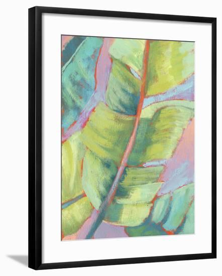 Vibrant Palm Leaves II-Jennifer Goldberger-Framed Art Print