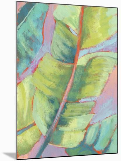 Vibrant Palm Leaves II-Jennifer Goldberger-Mounted Premium Giclee Print