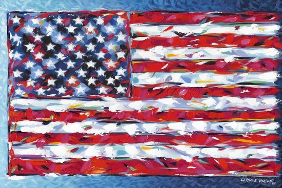 Vibrant Stars and Stripes-Carolee Vitaletti-Art Print