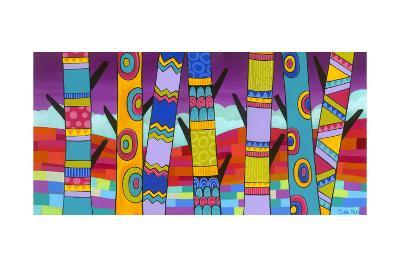 Vibrant Trees-Carla Bank-Giclee Print