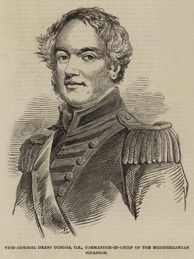 Vice-Admiral Deans Dundas, Cb, Commander-In-Chief of the Mediterranean Squadron--Giclee Print