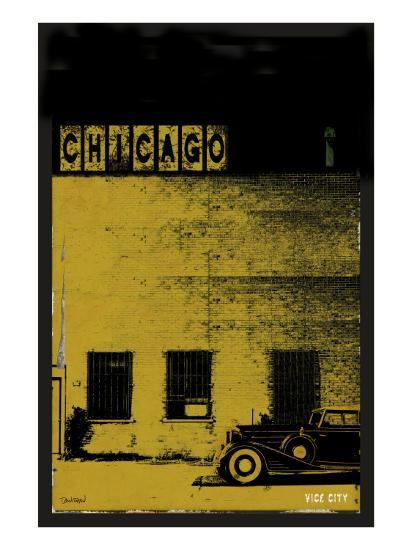 Vice City - Chicago grey-Pascal Normand-Art Print
