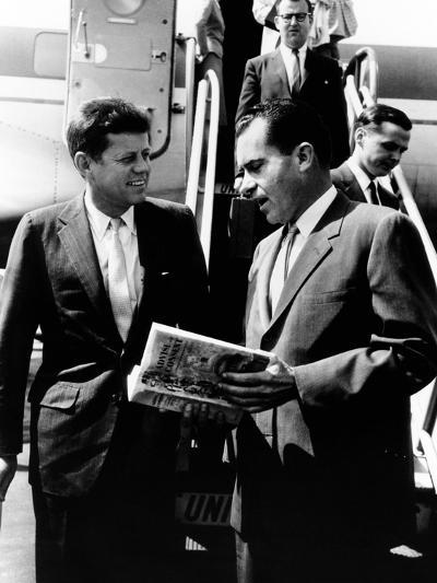 Vice-President Richard Nixon and Senator John Kennedy at Chicago's Midway Airport--Photo