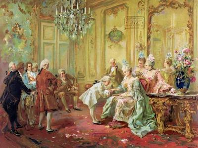 The Presentation of the Young Mozart to Mme De Pompadour at Versailles in 1763 by Vicente De Paredes