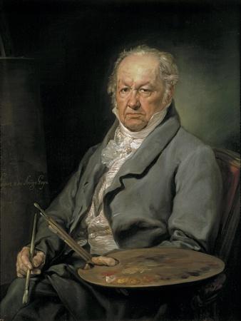 Portrait of the Painter Francisco De Goya (1746-182), 1826