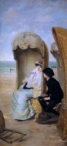 The Confession by Vicente Palmaroli y Gónzalez