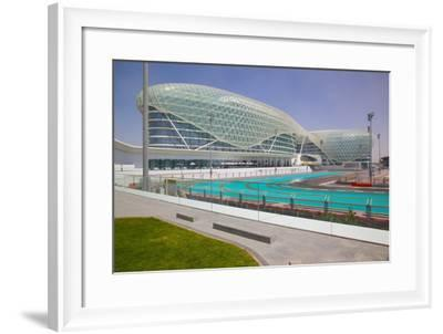 Viceroy Hotel and Formula 1 Racetrack, Yas Island, Abu Dhabi, United Arab Emirates, Middle East-Frank Fell-Framed Photographic Print