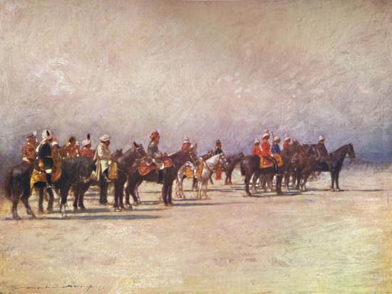 'Viceroy reviewing the Troops', 1903-Mortimer L Menpes-Giclee Print