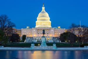 US Capitol Building at Dusk, Washington Dc, USA by vichie81