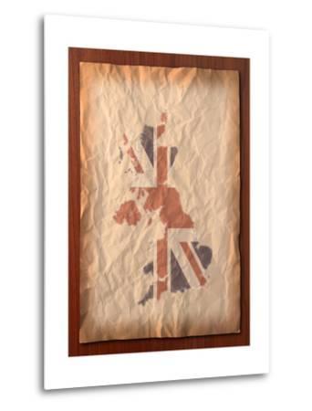 Vintage Uk Map On Paper Craft