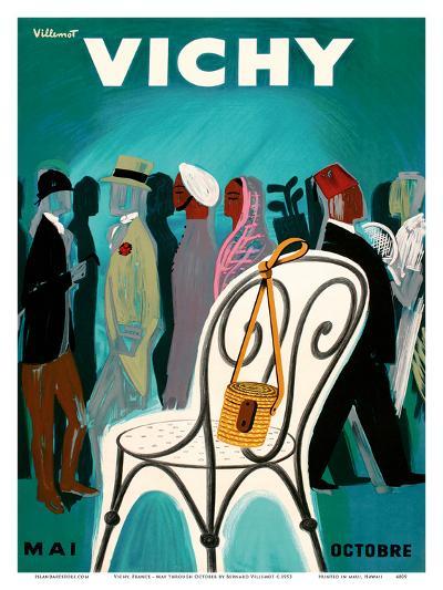 Vichy, France - Resorts and Spas - May through October (Mai-Octobre)-Bernard Villemot-Art Print
