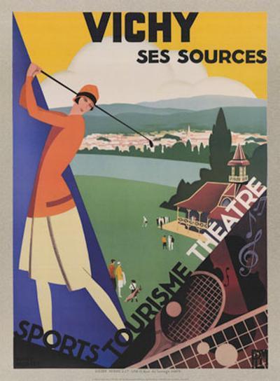 Vichy, Ses Soursec-Roger Broders-Art Print