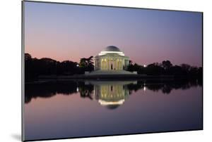 The Jefferson Memorial and its Mirror Reflection Cast on the Tidal Basin at Sunrise by Vickie Lewis
