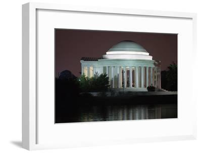 The Jefferson Memorial Illuminated at Dusk