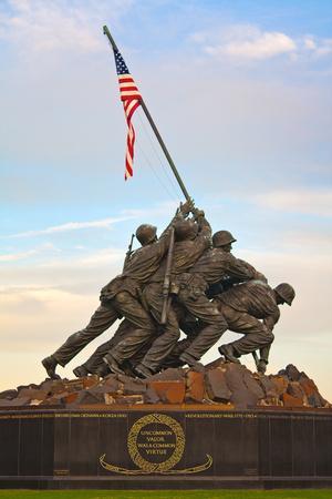 The Marine Corps War Memorial, also Called the Iwo Jima Memorial