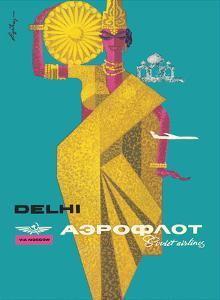 Delhi, India - Aeroflot Soviet Airlines by Victor Asseriants