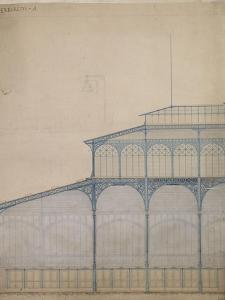 Projet pour la construction des Halles Centrales de Paris by Victor Baltard