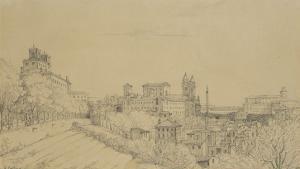 Vue de Rome prise du Pincio by Victor Baltard