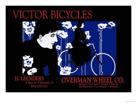 Victor Bicycles Overman Wheel Company Art Print William H Bradley Art Com