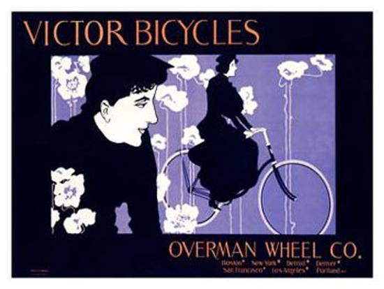 Victor Bicycles-William H^ Bradley-Giclee Print