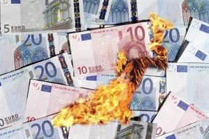 Burning Money, Conceptual Image by Victor De Schwanberg